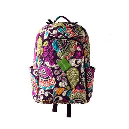 Vera Bradley Laptop Backpack In Plum Crazy With Inte