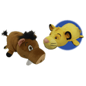 "Disney 14"" Lion King Pumba to Simba FlipaZoo Plush"