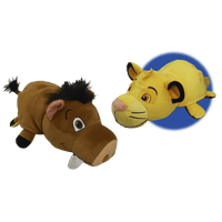 "14"" Disney Lion King Pumba to Simba FlipaZoo 2 in 1 Plush"