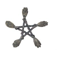 Witchcraft Broomsticks Pentagram Halloween Wall Decoration Wiccan Witch New