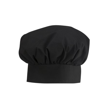 Ed Garments Traditional Chef Hat, BLACK, One size (I Love Lucy Chefs Hat)