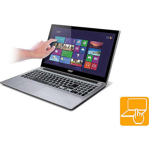 "Acer Silky Silver 15.6"" Touchscreen Aspire V5 Series V5-571P-6831 Laptop PC with Intel Core i5-3337U Processor and Windows 8 Operating System"