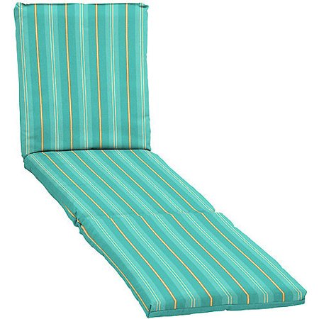 Mainstays chaise cushion aqua for Aqua chaise lounge cushions