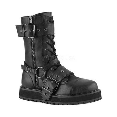"VALOR-220, 1 1/2"" Platform Lace-Up Mid-Calf Boot Size 10"