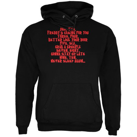 Halloween Nightmare Nursery Rhyme Black Adult Hoodie - Nursery School Halloween Activities