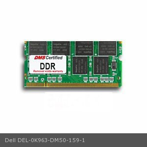 Ddr 333 Sodimm Memory (Dell 0K963 equivalent 512MB DMS Certified Memory 200 Pin  DDR PC2100 266MHz 64x64 CL 2.5 SODIMM 16 Chip - DMS )