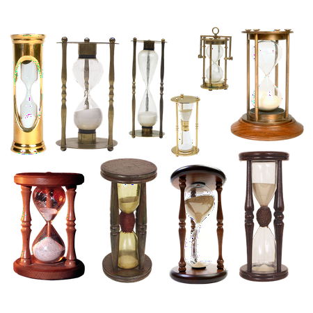 Unity Sand Hourglass (LAMINATED POSTER Clock Time Sand Flask Glass Hourglass Poster Print 24 x)