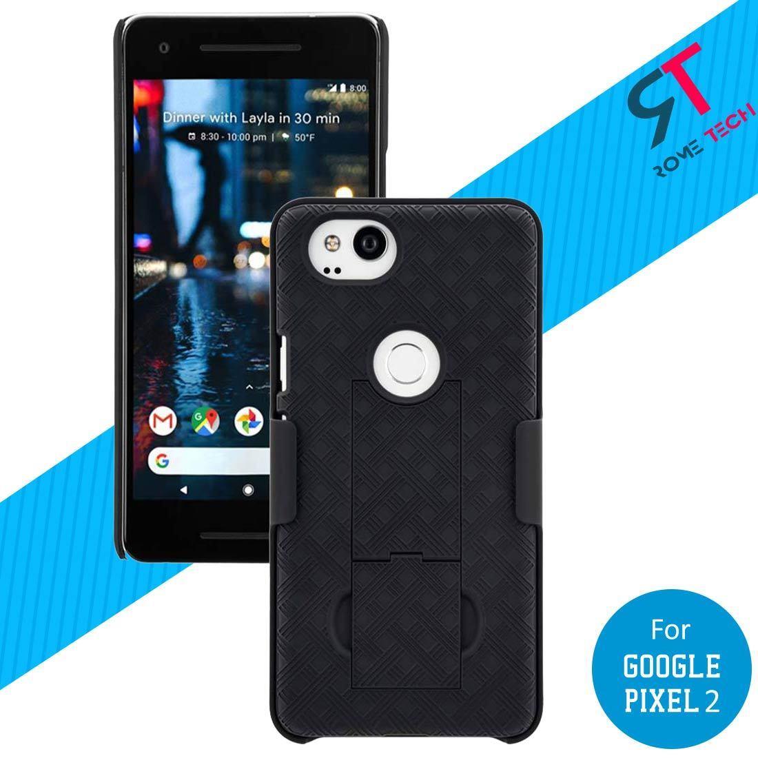 Rome Tech Shell Holster Combo Case with Belt Clip & Kickstan Google Pixel 2
