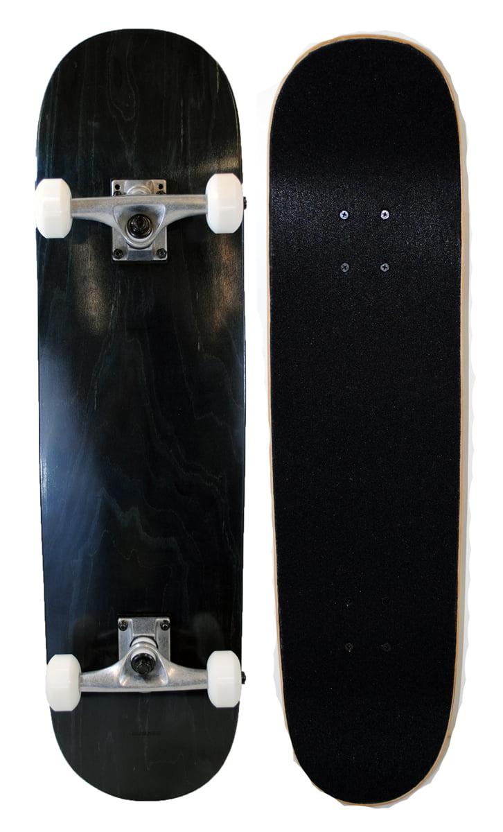Runner Sports Complete Full Size Standard Maple Deck Skateboard Black by Runner
