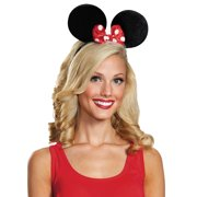 Deluxe Exclusive Minnie Mouse Ears Adult Halloween Accessory