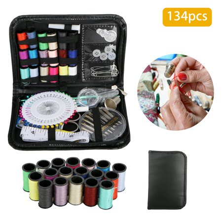 134pcs/Set Sewing Kit Scissors Needle Thread for Home Stitching Hand Sewing Tool ()