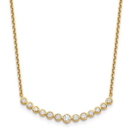 14k Yellow Gold True Origin Lab Grown Diamond VS1/VS2, D E, Fashion Pendant Necklace