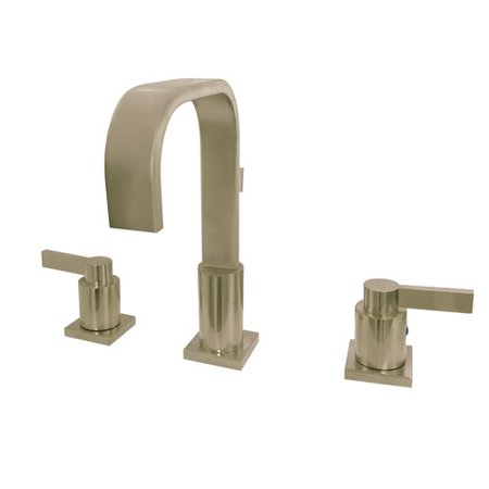 Kingston Brass NuvoFusion Widespread Bathroom Faucet with Drain Assemb