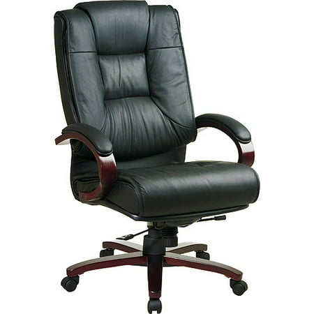 office star products leather deluxe executive high back leather chair