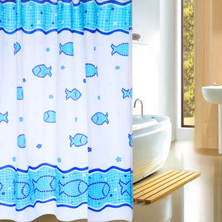 Holiday Clearance Sea Fish Polyester Bathroom Curtain Waterproof Mildew Proof Partition