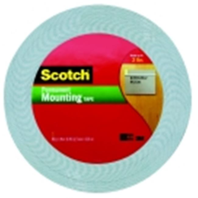Scotch Polyurethane Permanent Mounting Tape Roll, Off-White