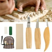 6Pcs/Set Wood Carving Knife Chisel Woodworking Whittling Cutter Chip Hand Tools