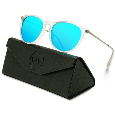 WearMe Pro - Round Retro Polarized Lens Classic Sunglasses for Women and Men ()