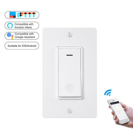 WiFi Intelligent Switch Standard Button Switch APP Remote Control Switch Compatible with / Home for Lamp Fan Electric Appliances
