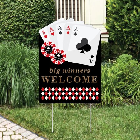 las vegas - party decorations - casino party welcome yard sign - Las Vegas Decorations