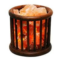 Evolution Salt Wooden Basket Crystal Salt Lamp, 1 Ea