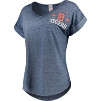 d105a55f00b6 Product Image Women's Concepts Sport Heathered Navy Detroit Tigers  Crosspoint T-Shirt