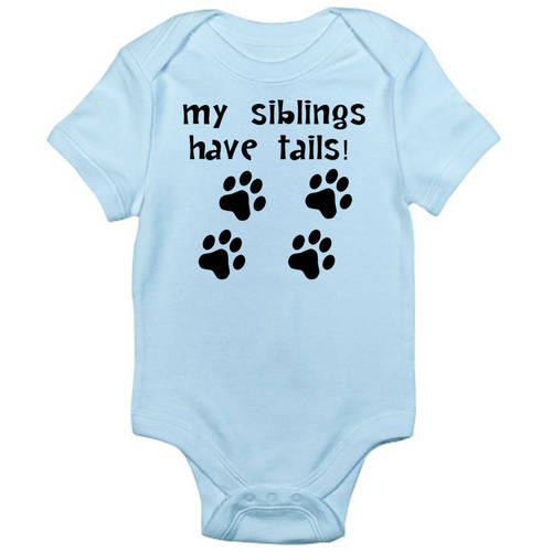 CafePress Baby My Siblings Have Tails Newborn Baby Bodysuit