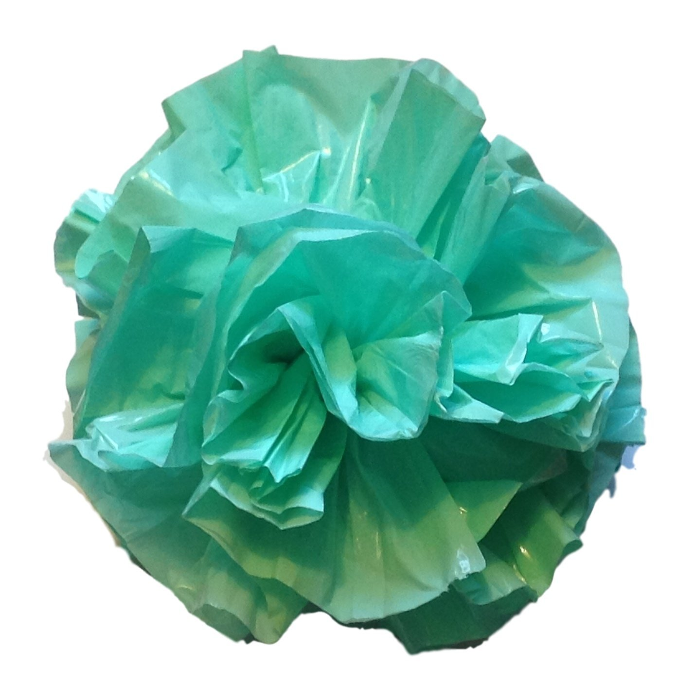 "25 Car Limo wedding Decoration Plastic Pom Poms Flower 4"" - mint green"