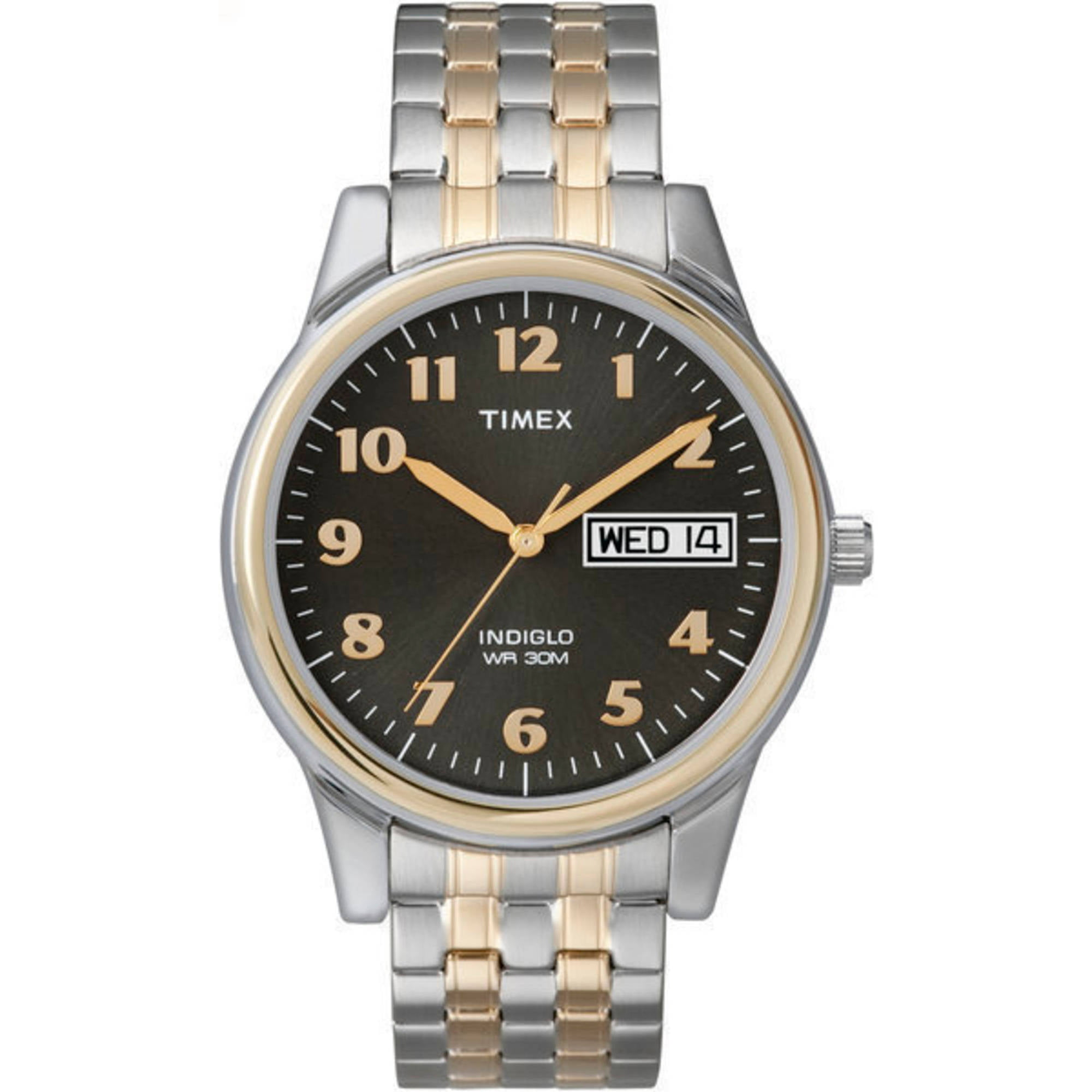 Timex Men's Charles Street Watch, Two-Tone Stainless Steel Expansion Band by Timex