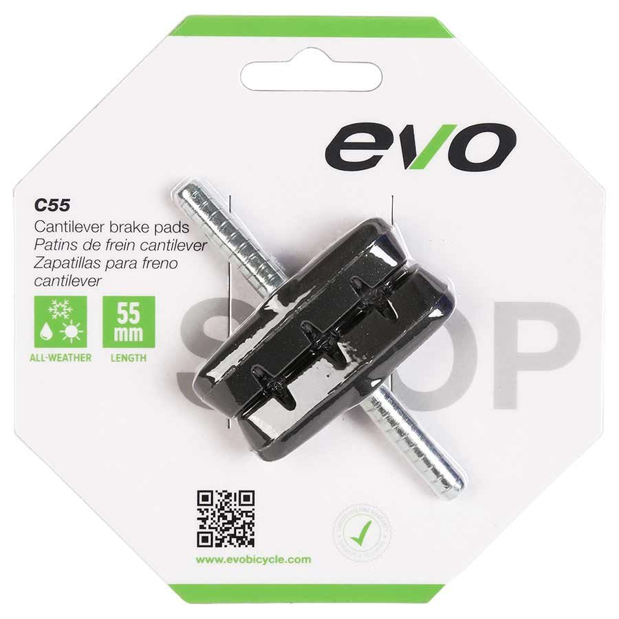 EVO, C55, Cantilever brake pads, 55mm, Threadless post