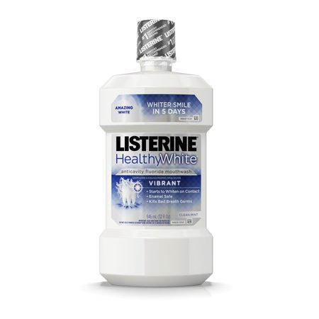 Listerine Healthy White Vibrant Multi-Action Fluoride Mouthwash For Whitening Teeth, 32 fl. (Best Listerine For Braces)