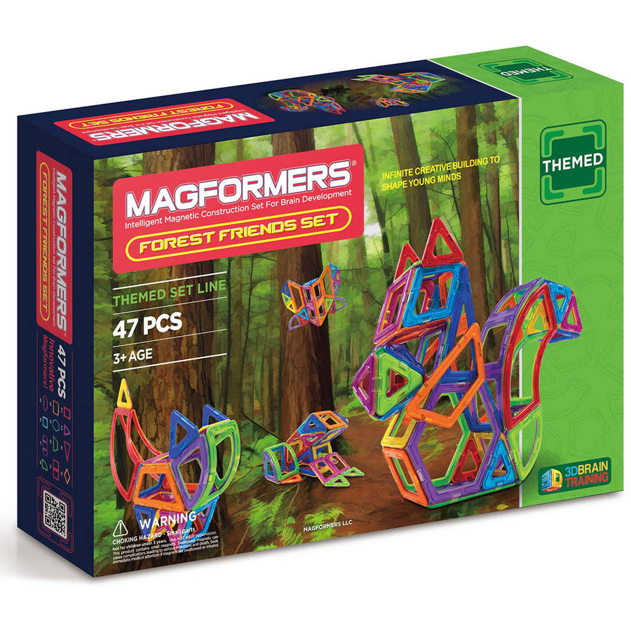 Magformers Forest Friends 47-Piece Magnetic Construction Set
