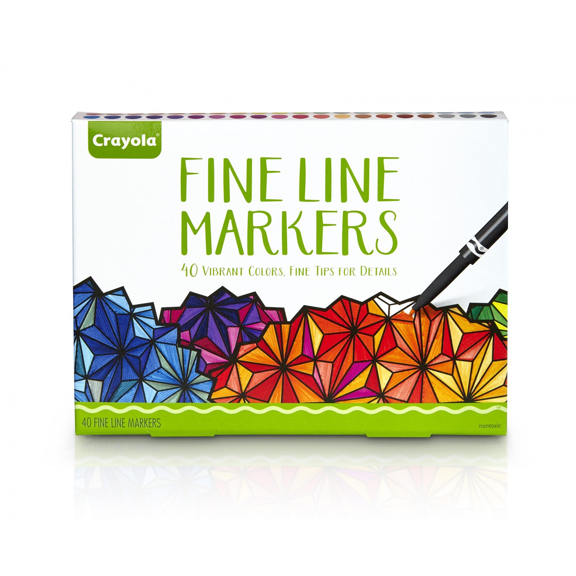 Crayola 40-Count Adult Coloring Fineline Markers