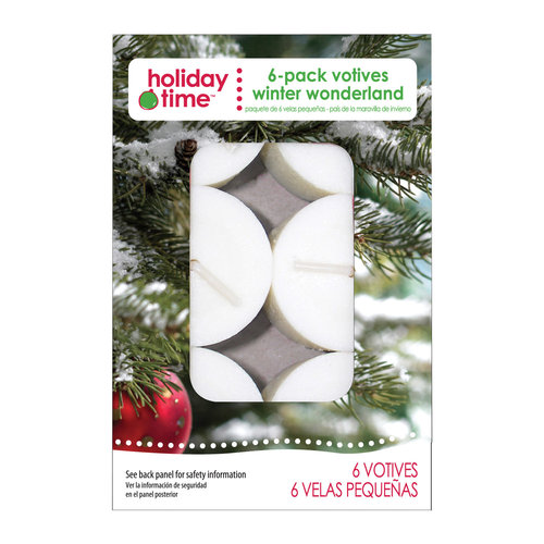 Holiday Time 6-Pack Votives, Winter Wonderland
