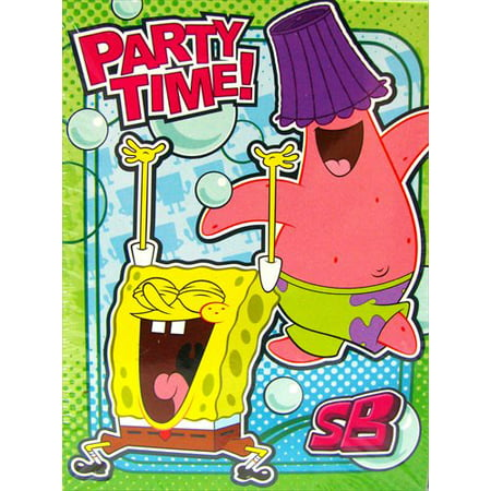 SpongeBob SquarePants 'Bubbles' Invitations and Thank You Notes w/ Env. (8ct) (Spongebob Thank You Cards)