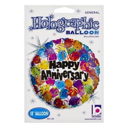 Betallic Holographic Balloon Happy Anniversary, 1.0 CT