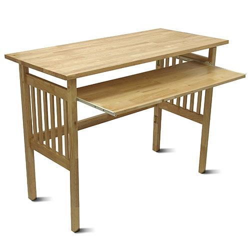 Folding Computer Desk, Honey Pine