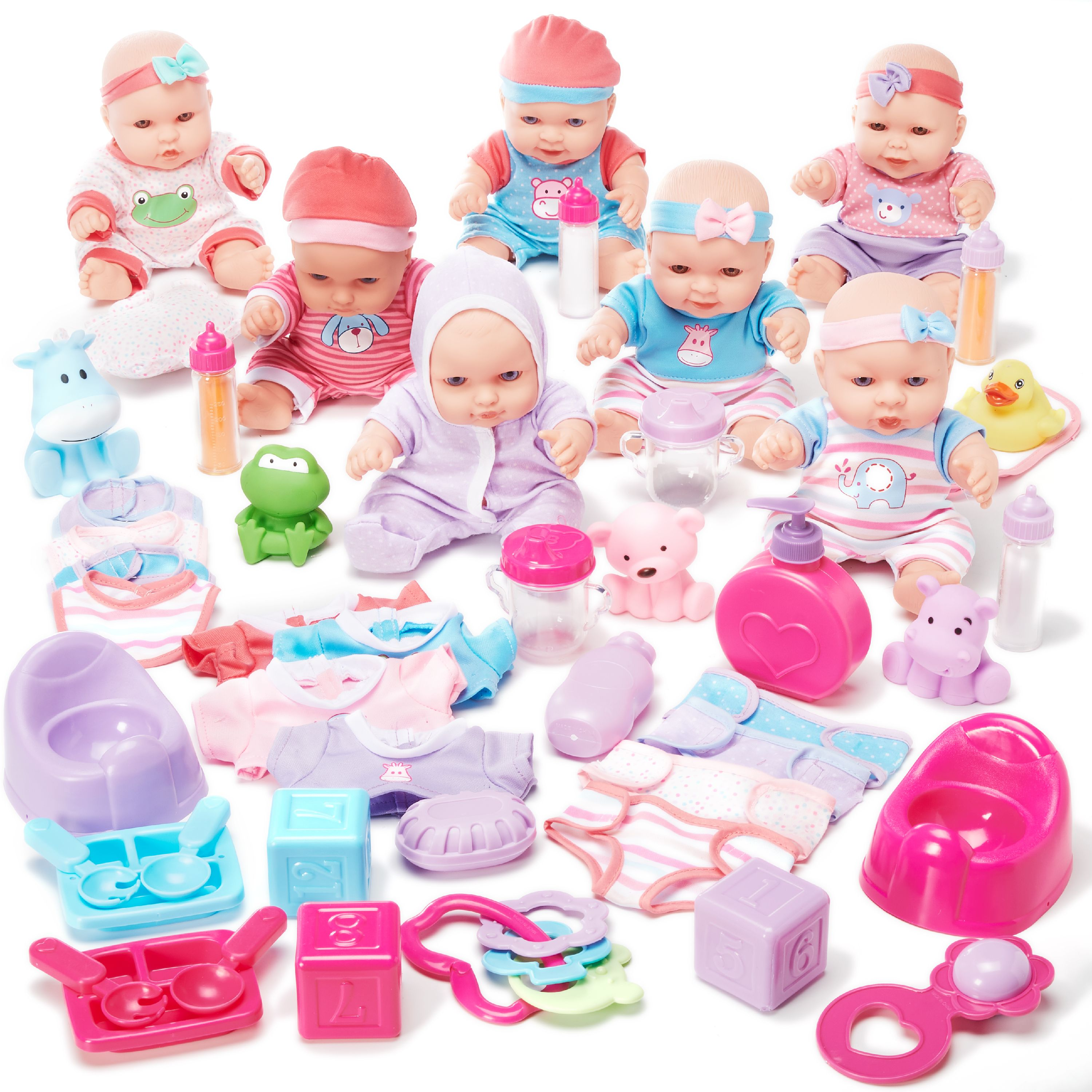 Kid Connection 7-pc 9 Inches Baby Doll Set