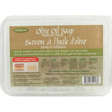 Life/Party Soap Base Suspension 2lb Olive (Base Snap)