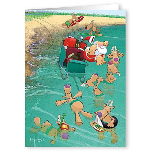 Cowabunga! Beach Christmas Card - 18 Cards & Envelopes30051