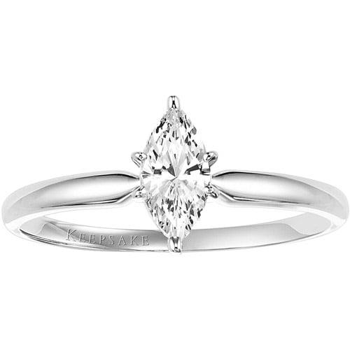 Keepsake 1/2 Carat Marquise Diamond Enga
