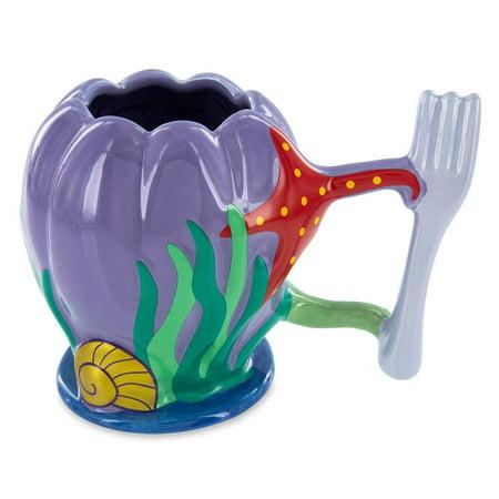 Disney Parks The Little Mermaid Ariel Dinglehopper Handle Ceramic Mug ()
