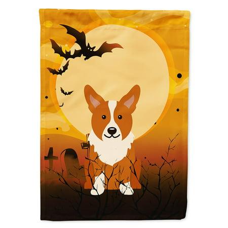 Halloween Corgi Garden Flag