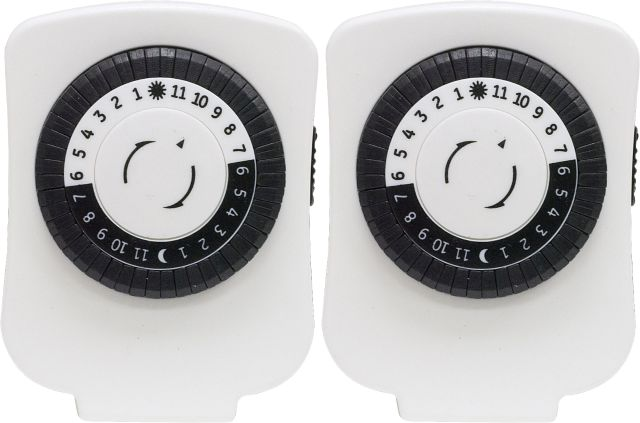 GE 24-Hour Basic Indoor Plug-In Mechanical Timers, 2-pack, 15417 by Jasco Products Company, LLC