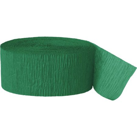 Green Crepe Paper Streamer, 81ft