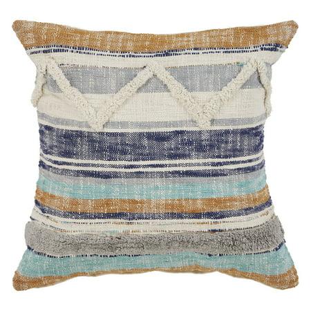 LR Home Funky Striped Chevron Multi Natural Throw Pillow ( 18
