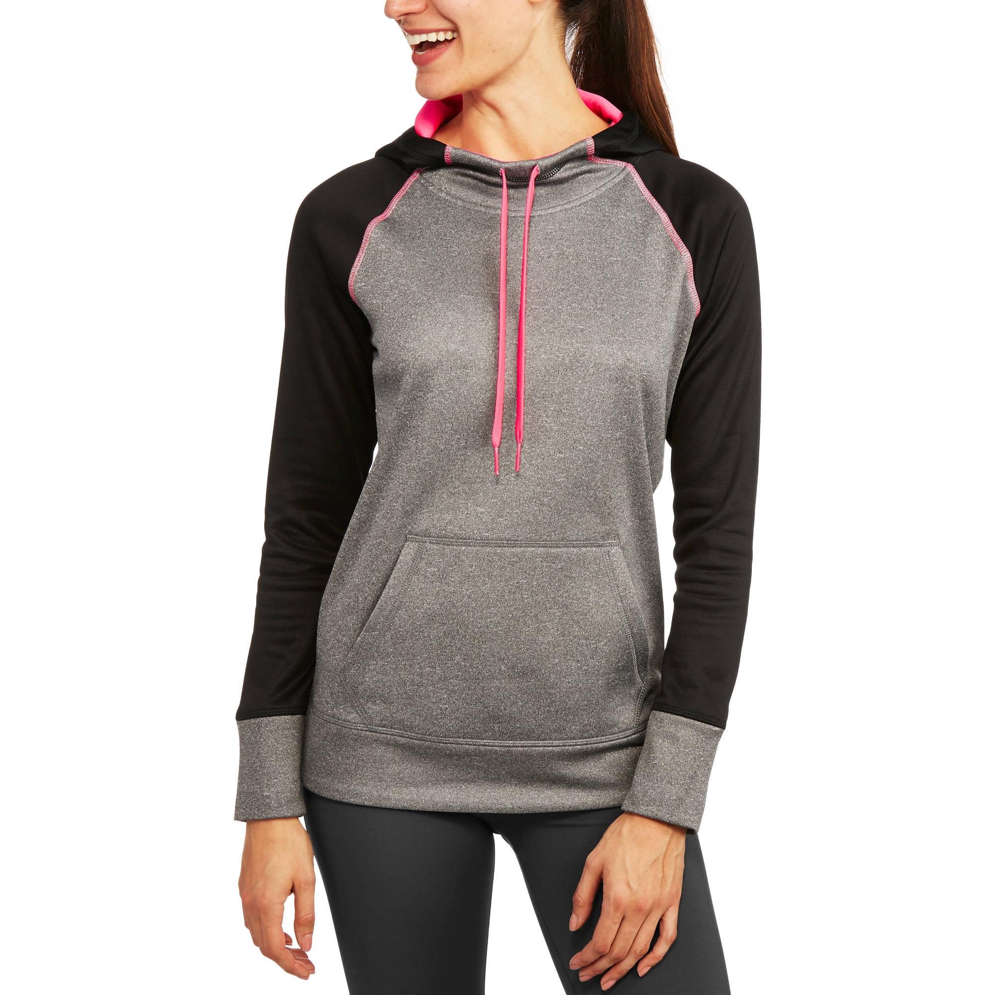 Danskin Now Women's Active Raglan Heather Tech Fleece Hoodie