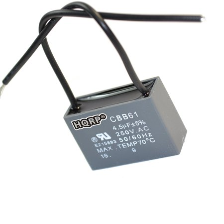 HQRP Harbor Breeze Ceiling Fan Capacitor 4.5uf 2-Wire plus HQRP ...