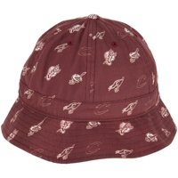 Cleveland Cavaliers Mitchell & Ness All Over Print Bell Bucket Hat - Burgundy