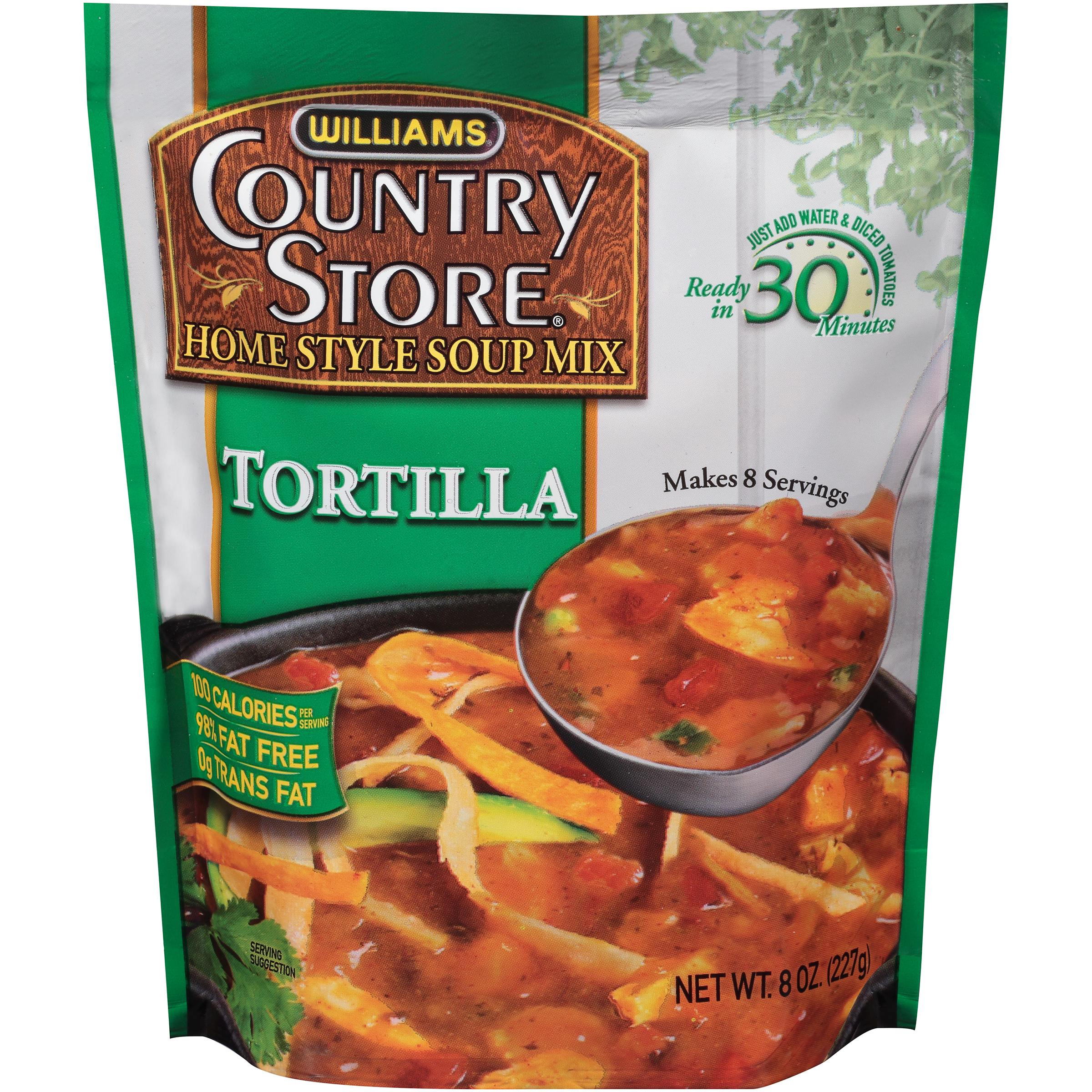 Williams�� Country Store�� Tortilla Home Style Soup Mix 8 oz. Pouch